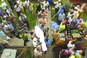 •Fatai Rolling Dollar's  remains being conveyed to  his residence Wednesday
