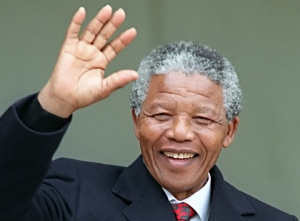 South African anti-apartheid leader and African National Congress (ANC) member, Nelson Mandela