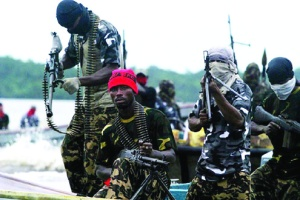 •Niger Delta militants in the creeks. They kidnap expatriates for  ransom.