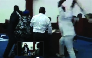 •Rivers State House of Assembly members fighting yesterday