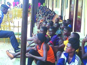 •Some of the suspects arrested at Oshodi