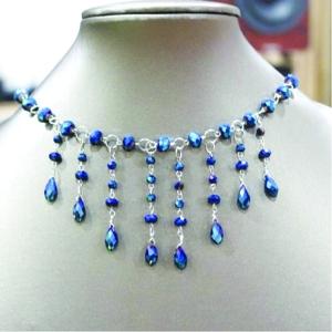 •Tear drop necklace