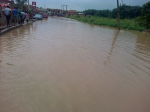•The road that leads to Agbede community