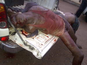 •The two robbers lynched in Badagry on Sunday