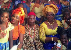 Genevieve Nnaji in her chieftaincy title
