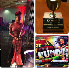 Yemi Alade with her trophy
