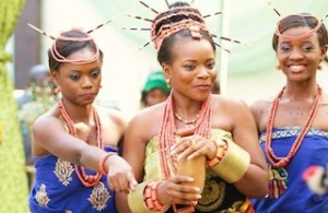 An Igbo bride during a traditional wedding