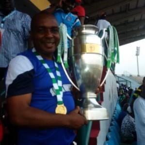 The FA Cup won by Akwa United after defeating Lobi Stars at the Teslim Balogun Stadium in Lagos on Sunday, 22 November, 2015