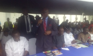 Commissioner for Finance, Mr Akan Okon, addressing participants at the event.