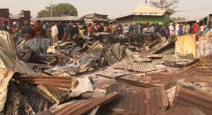 Kaduna food market razed by fire