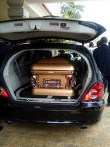 The remains of the late Kate Keshi