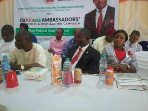 Honourable Commissioner for Education, Mr. Aniekan Akpan (l) at the event