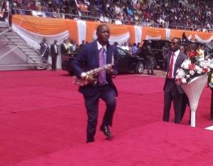 Pastor Kunle Ajayi performing