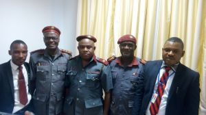 Core General Uduakobong Udoh (2nd left) and Ambassador Sampson Akpan (middle) during the occasion.