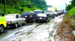 The dilapidated Calabar-Akwa Ibom-Rivers road