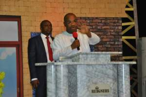 Gov Udom Emmanuel at Reigners Bible Church