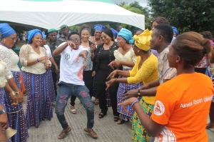 Winner of the dancing competition with Sisters of Udom Emmanuel