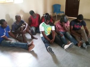 The three suspected militants arrested in Akwa Ibom State