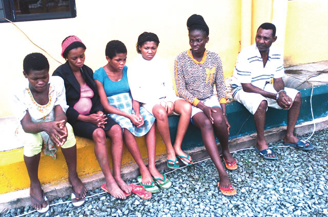 The rescued pregnant women and the suspect