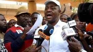 Femi Fani-Kayode addressing newsmen