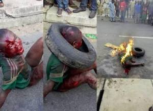 The 7-Year old boy lynched for allegedly attempting to still garri